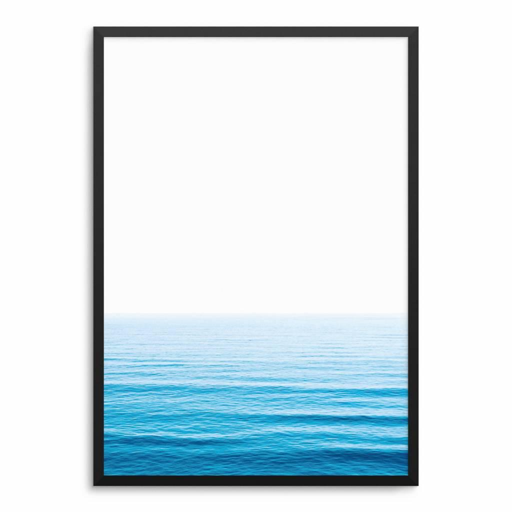 Lovely Bird Blue Ocean Poster