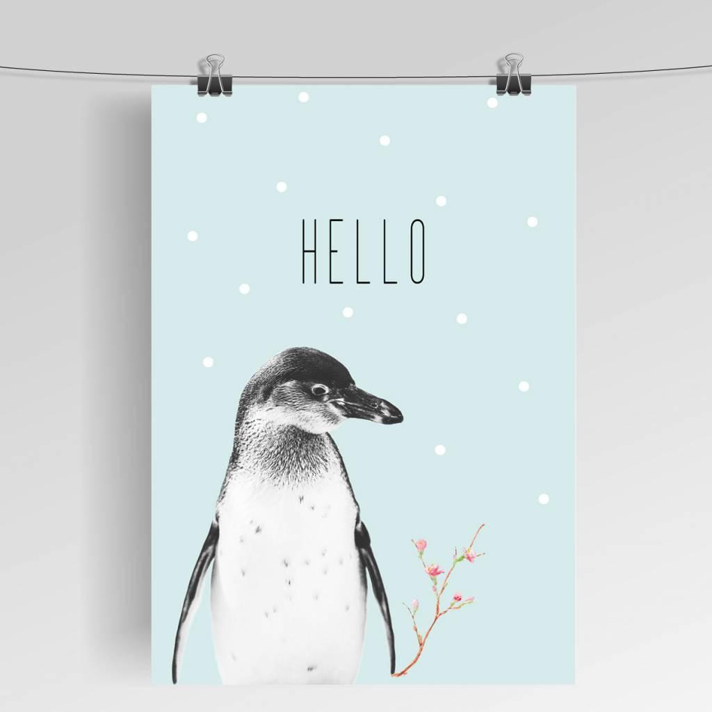 Lovely Bird Pinguin Mint Poster