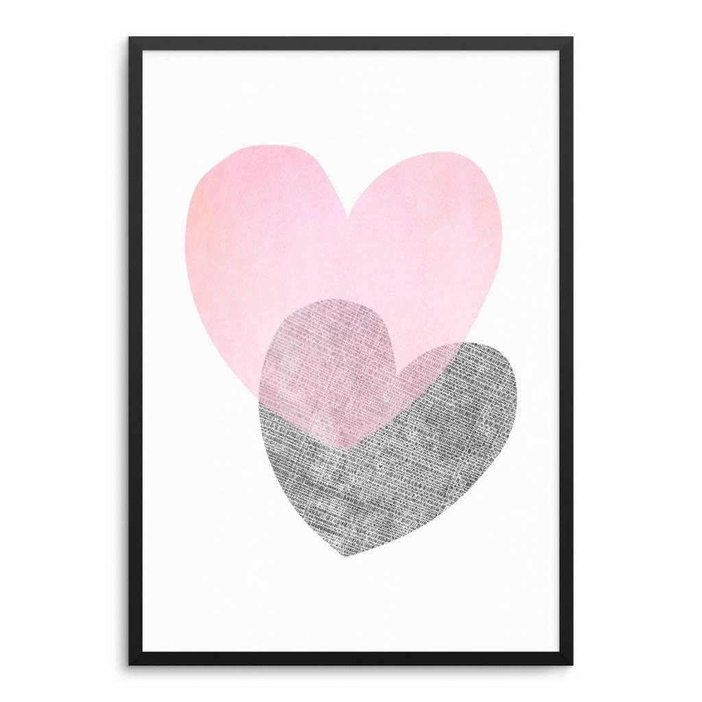 Lovely Bird Herzen Poster