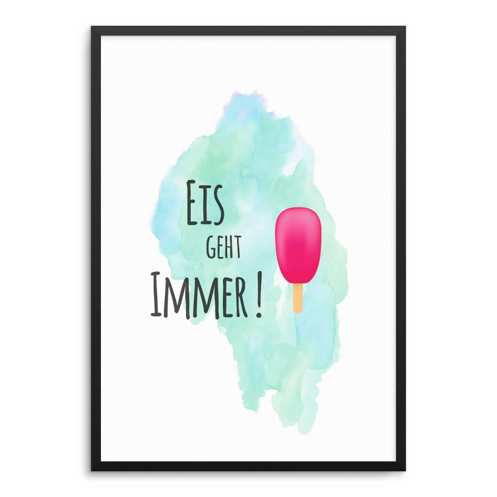 Lovely Bird Eis Geht Immer Poster