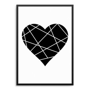 Origami Herz Poster