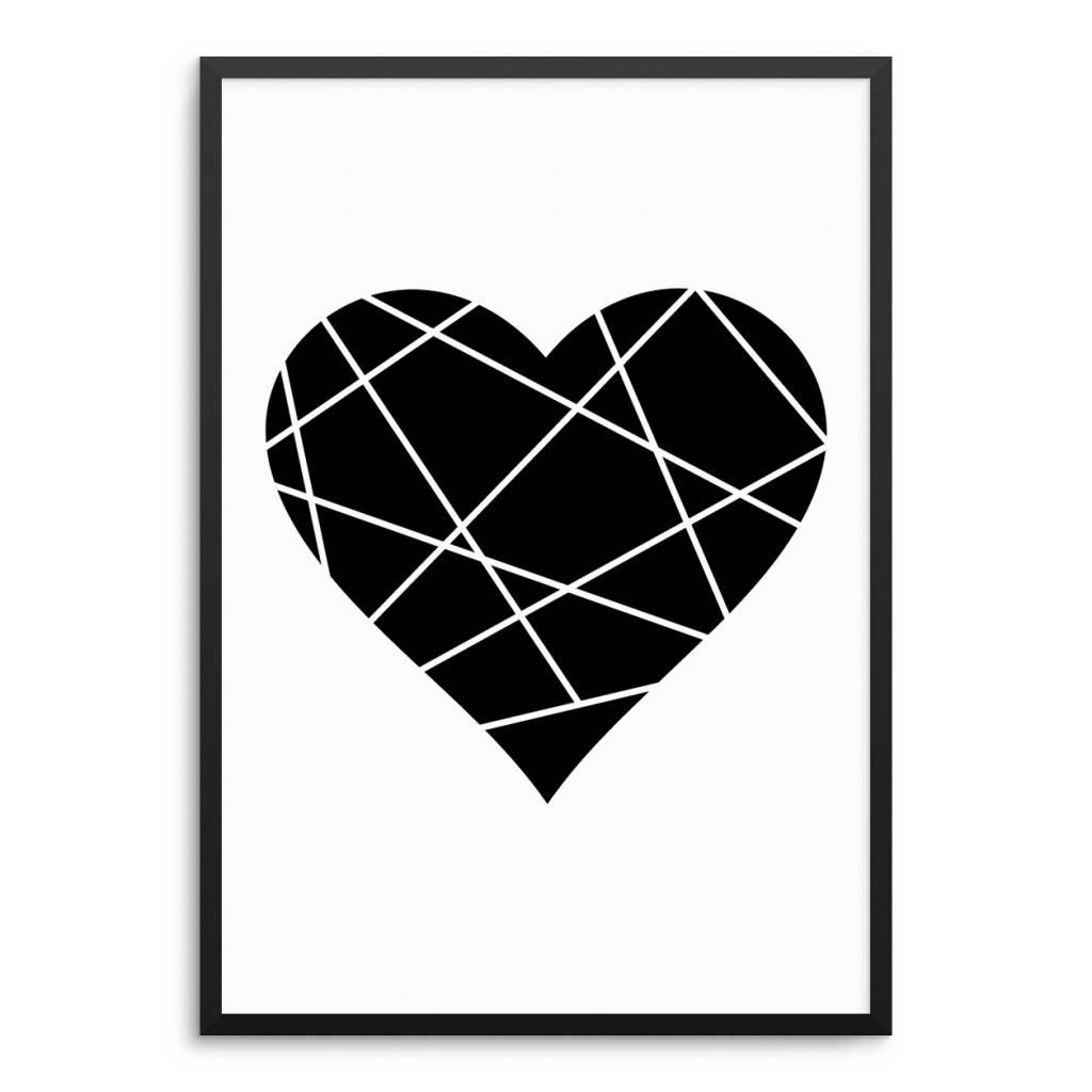 Lovely Bird Origamie Herz Poster