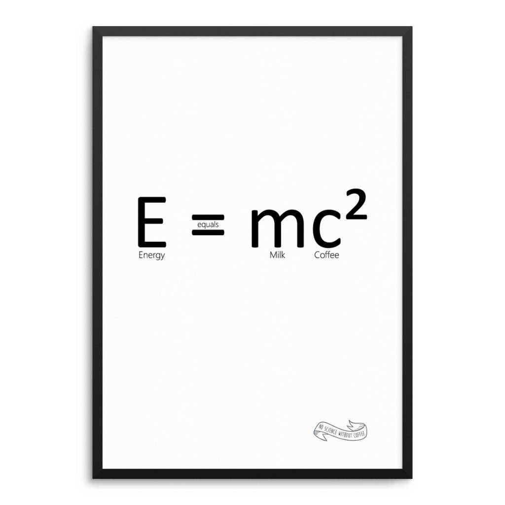 Lovely Bird E=mc² / Energy = Milk Coffee / E=mc2 Poster