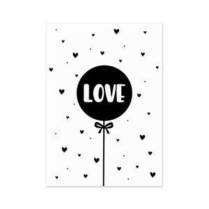 Luftballon Love Postkarte
