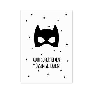 Superheld Postkarte