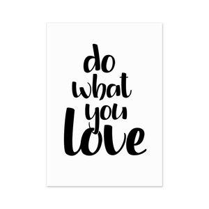 Do What You Love Postkarte