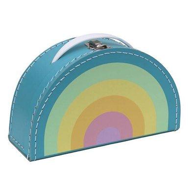 Koffer Regenbogen Pastell