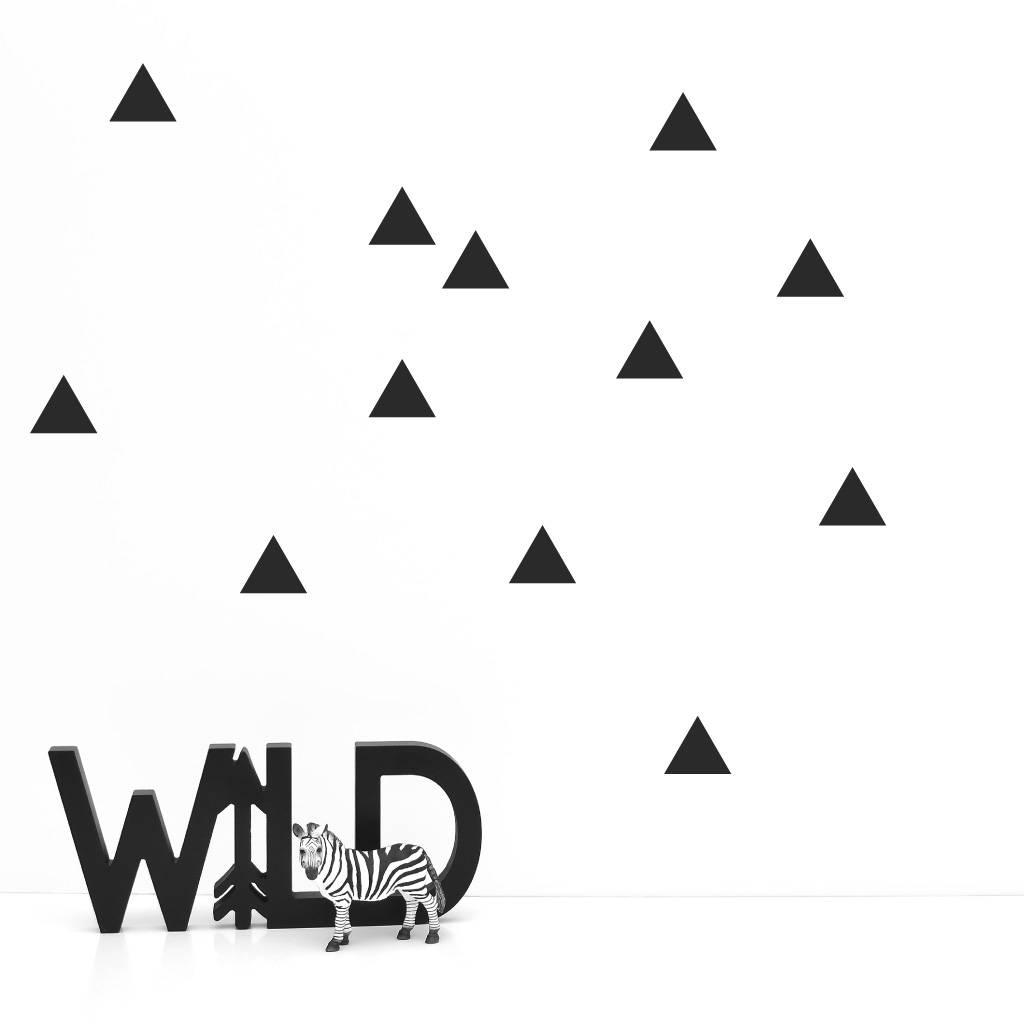 Lovely Bird Wandsticker Dreiecke