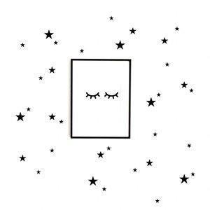 Kleine Sterne Mix Wandsticker