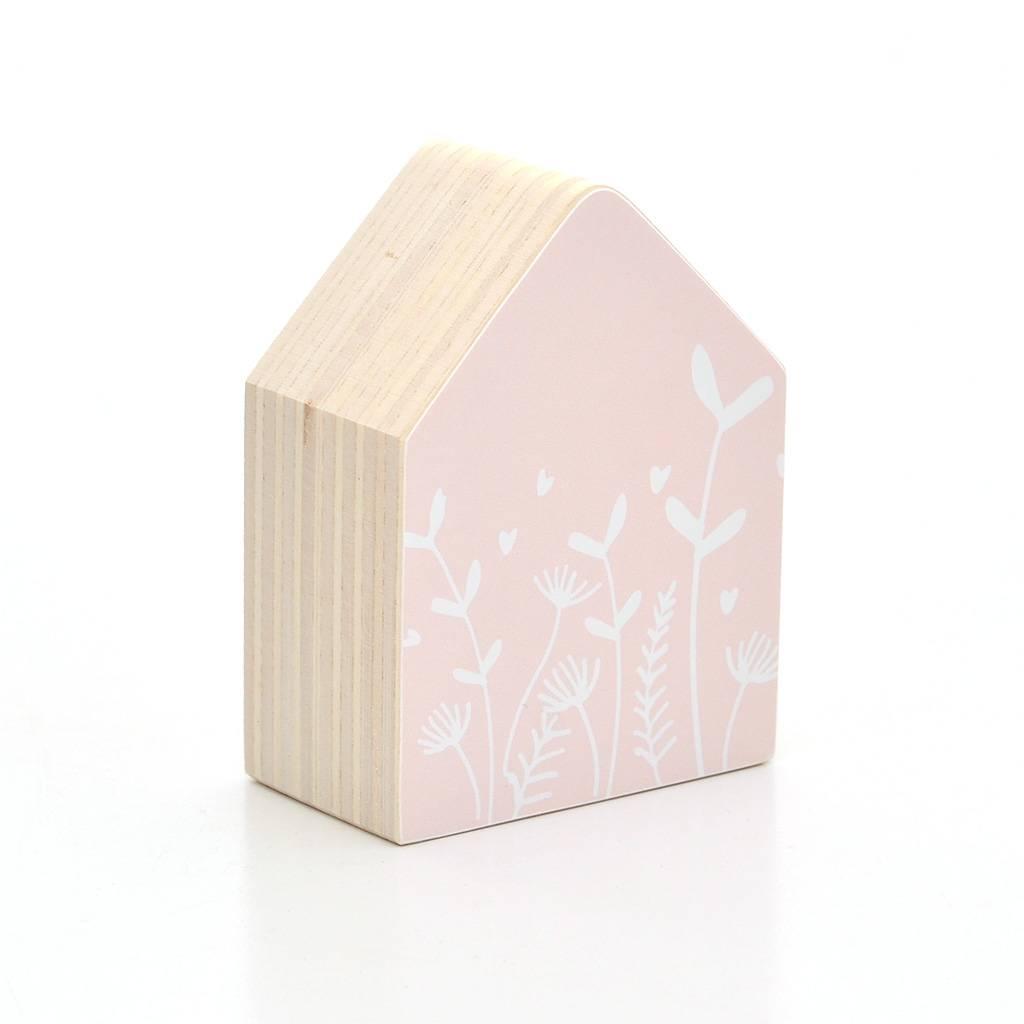 Dots Lifestyle Holzhaus Blumen, rosa