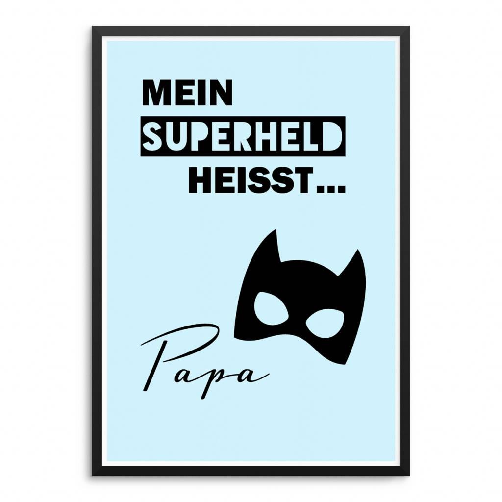 Lovely Bird Superheld Papa Poster