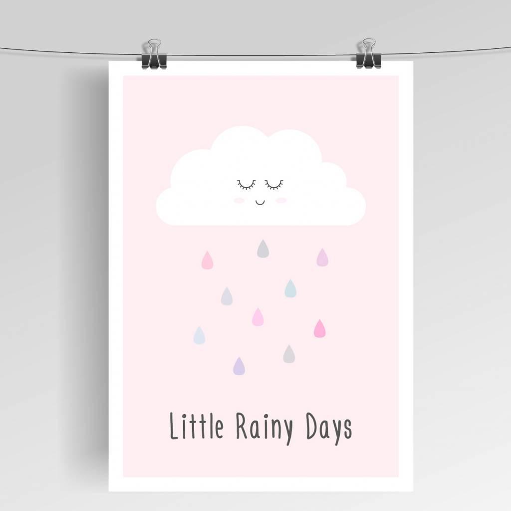 Lovely Bird Little Rainy Days Poster