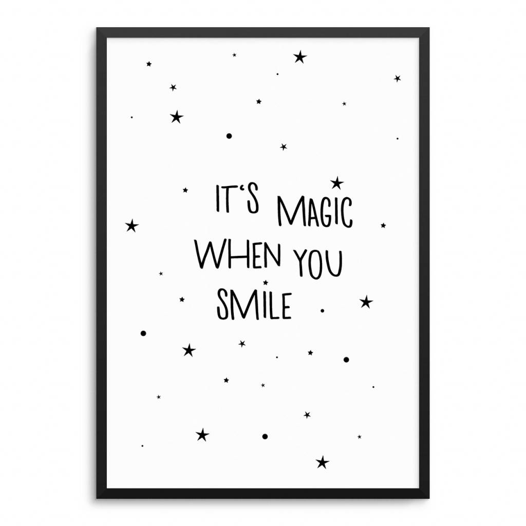 Lovely Bird It's Magic When You Smile Poster