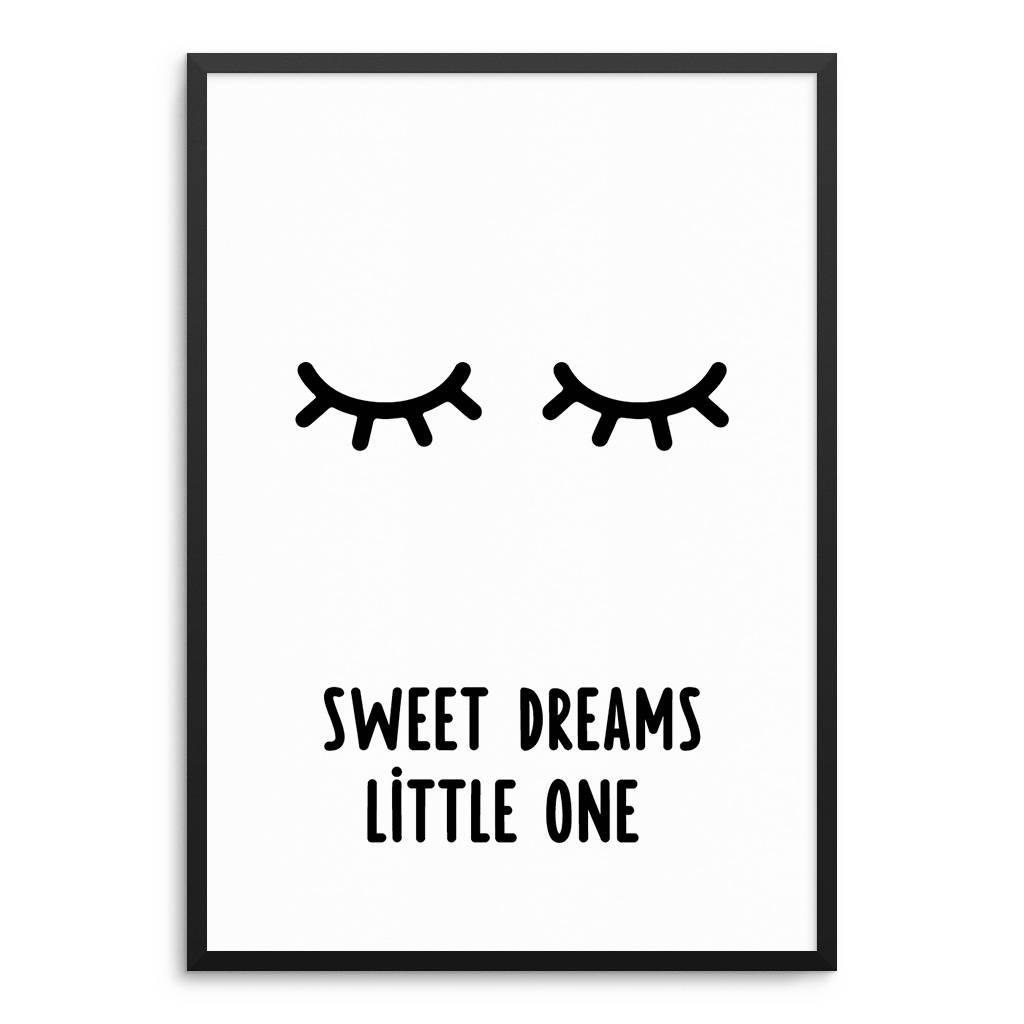 Lovely Bird Sweet Dreams Little One Poster