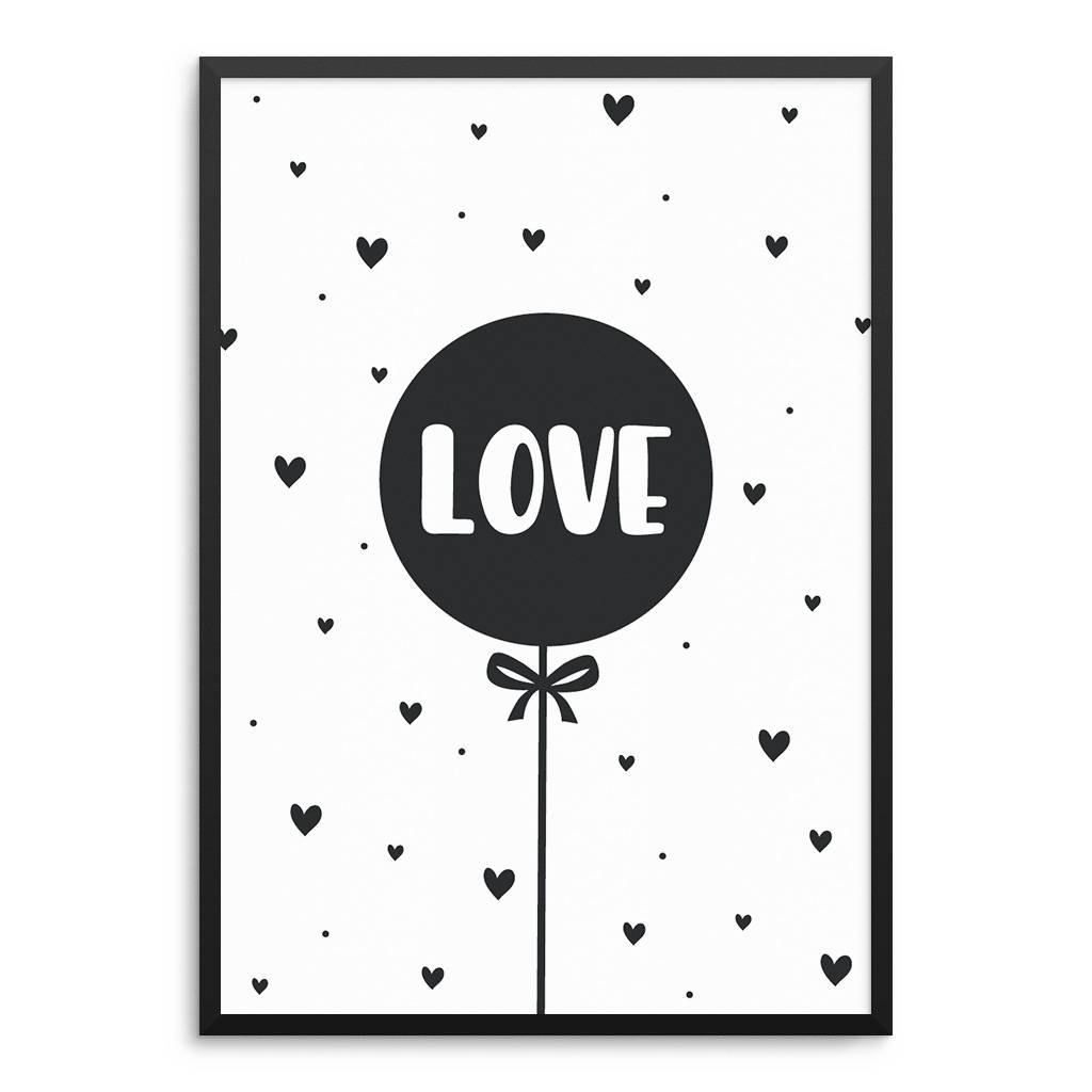 Lovely Bird Luftballon Love Poster