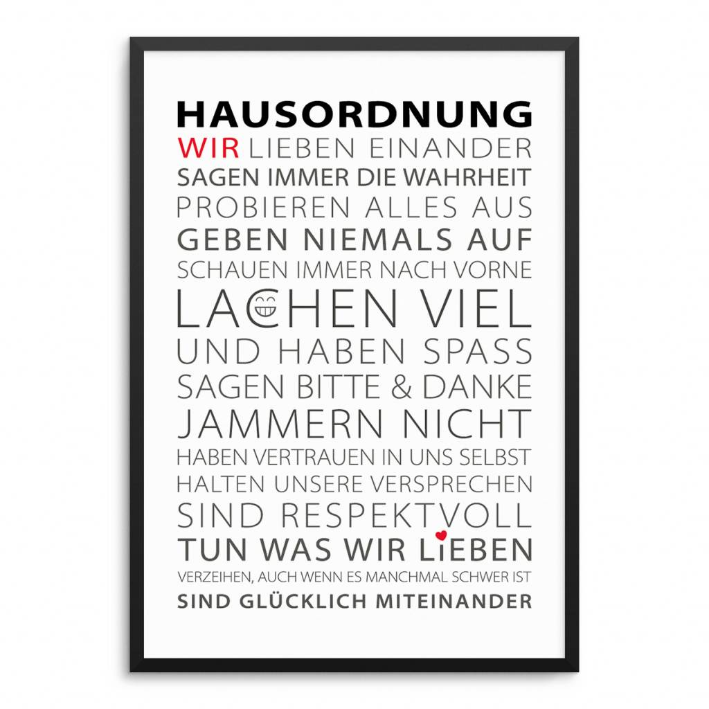 Lovely Bird Hausordnung Poster