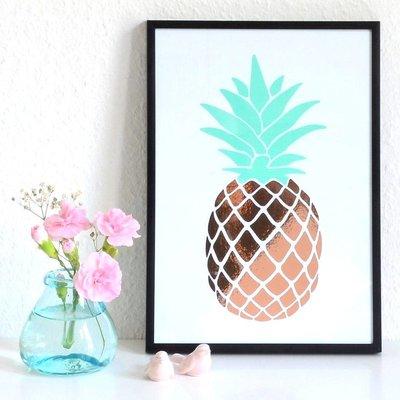 Kupfer Ananas Poster