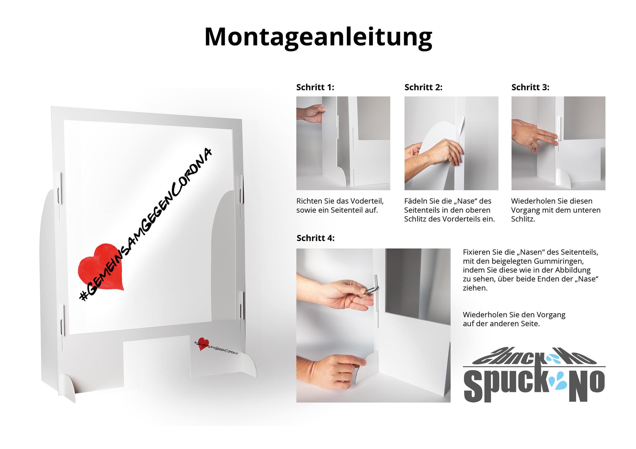 Spuckschutz | SpuckNo | breit für niedrige Handauflage