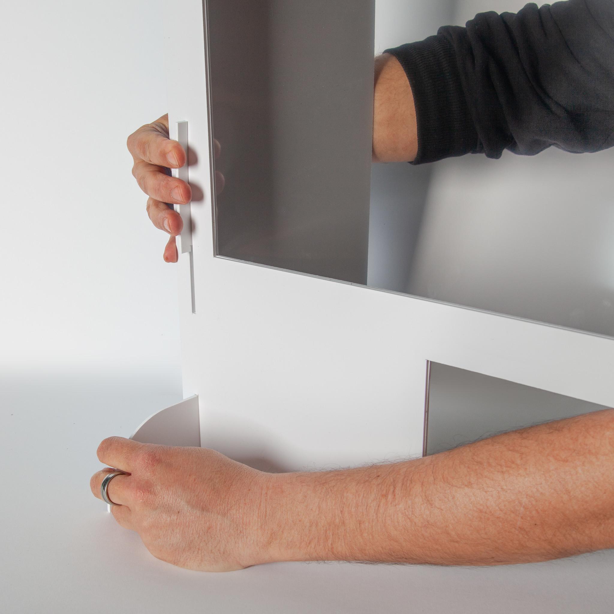 Spuckschutz | SpuckNo | breit für hohe Handauflage