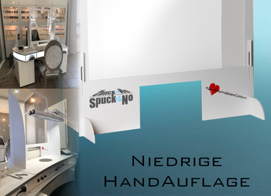 SpuckNo | Spuckschutz | für niedrige Handauflage