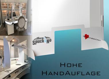 SpuckNo | Spuckschutz | für hohe Handauflagen