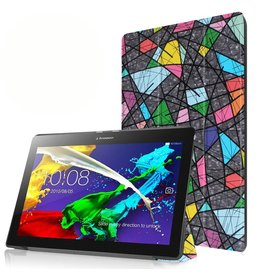 3-Vouw abstract patroon stand flip hoes Lenovo Tab 2 A10-30
