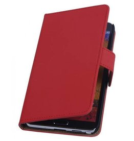 Bookwallet hoes Samsung Galaxy Note 3 rood