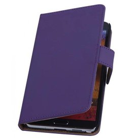 Bookwallet hoes Samsung Galaxy Note 3 paars