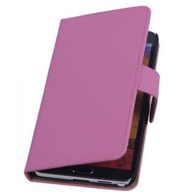 Bookwallet hoes Samsung Galaxy Note 3 roze