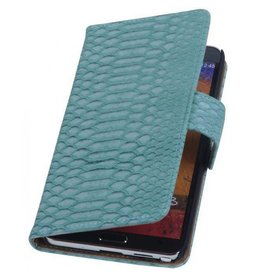 Wallet slang lichtblauw hoes Samsung Galaxy Note 3