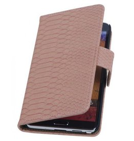 Wallet slang lichtroze hoes Samsung Galaxy Note 3