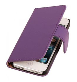 Bookwallet hoes iPhone 4(s) paars