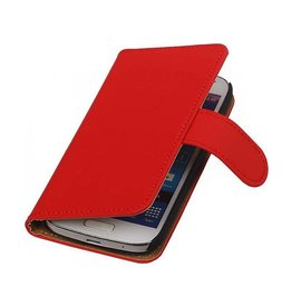 Bookwallet hoes Samsung Galaxy S4 Mini rood