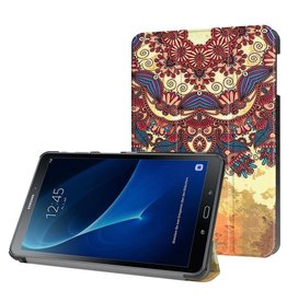 3-Vouw vintage bloem stand flip hoes Samsung Galaxy Tab A 10.1 inch (2016)