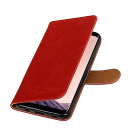 Bookwallet lederlook hoes Samsung Galaxy S8 Plus rood