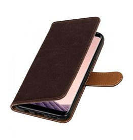 Bookwallet lederlook hoes Samsung Galaxy S8 Plus mocca