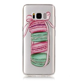 Softcase hoes macarons Samsung Galaxy S8 Plus