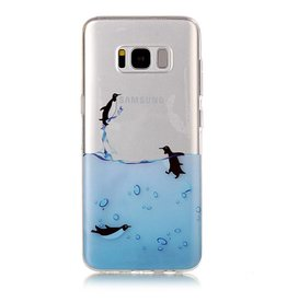 Softcase hoes pinguïns Samsung Galaxy S8 Plus