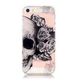Softcase hoes schedel iPhone SE / 5(s)
