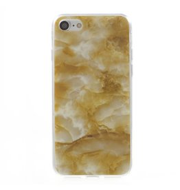 Softcase marmer goud hoes iPhone 7 / 8