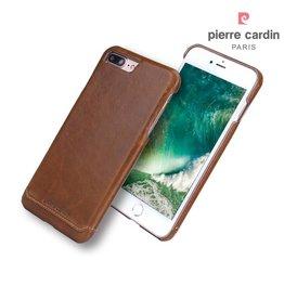 Pierre Cardin Pierre Cardin echt lederen hardcase hoes iPhone 7 Plus / 8 Plus bruin