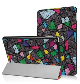 Lunso 3-Vouw abstract patroon stand flip hoes iPad 9.7 (2017/2018)