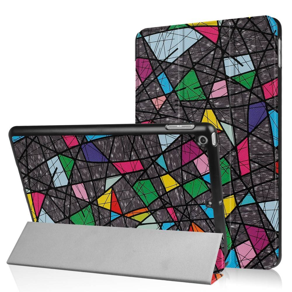 3-Vouw abstract patroon stand flip hoes iPad 9.7 (2017/2018)