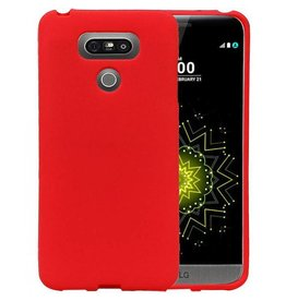 Softcase zandlook hoes LG G6 rood