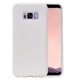 Softcase zandlook hoes Samsung Galaxy S8 wit