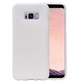 Softcase zandlook hoes Samsung Galaxy S8 Plus wit