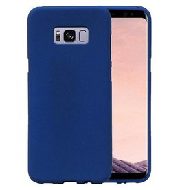 Softcase zandlook hoes Samsung Galaxy S8 Plus blauw
