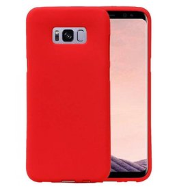 Softcase zandlook hoes Samsung Galaxy S8 Plus rood