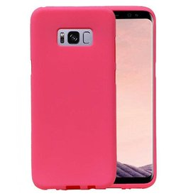Softcase zandlook hoes Samsung Galaxy S8 Plus roze