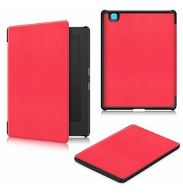 Lunso Lunso - sleepcover hoes - Kobo Aura H20 edition 2 (6.8 inch) - Rood